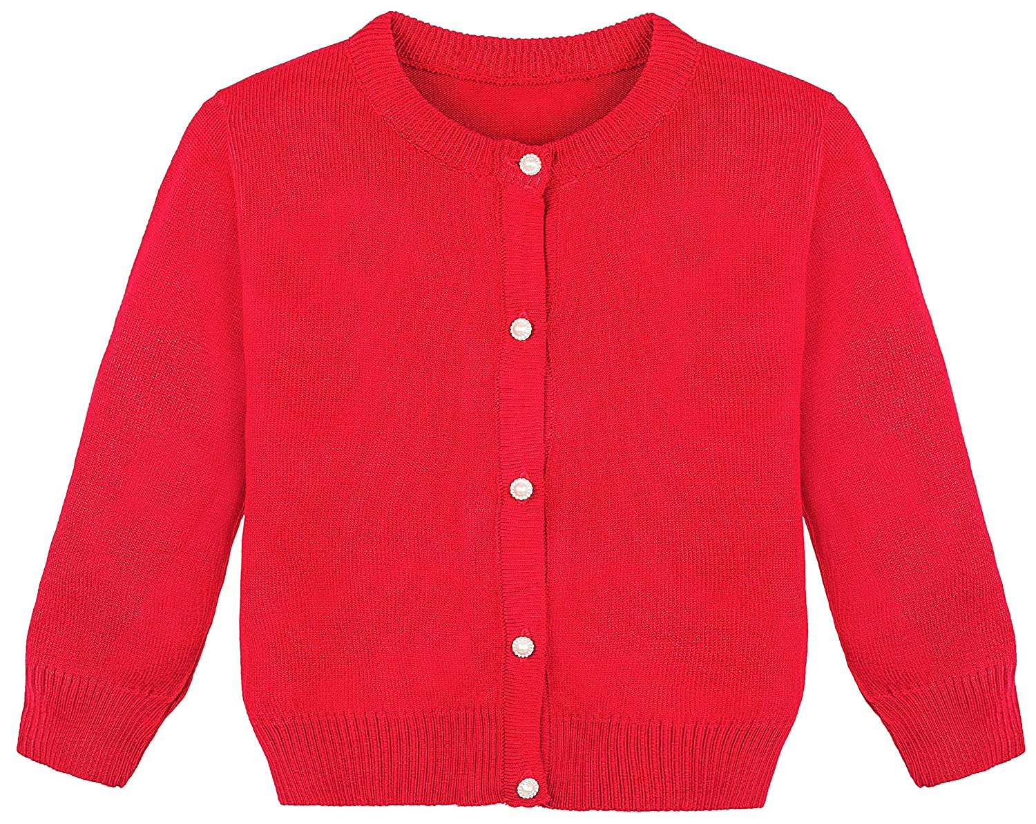 Lilax Little Girls' Knit Uniform Cardigan Long Sleeve Sweater 2345