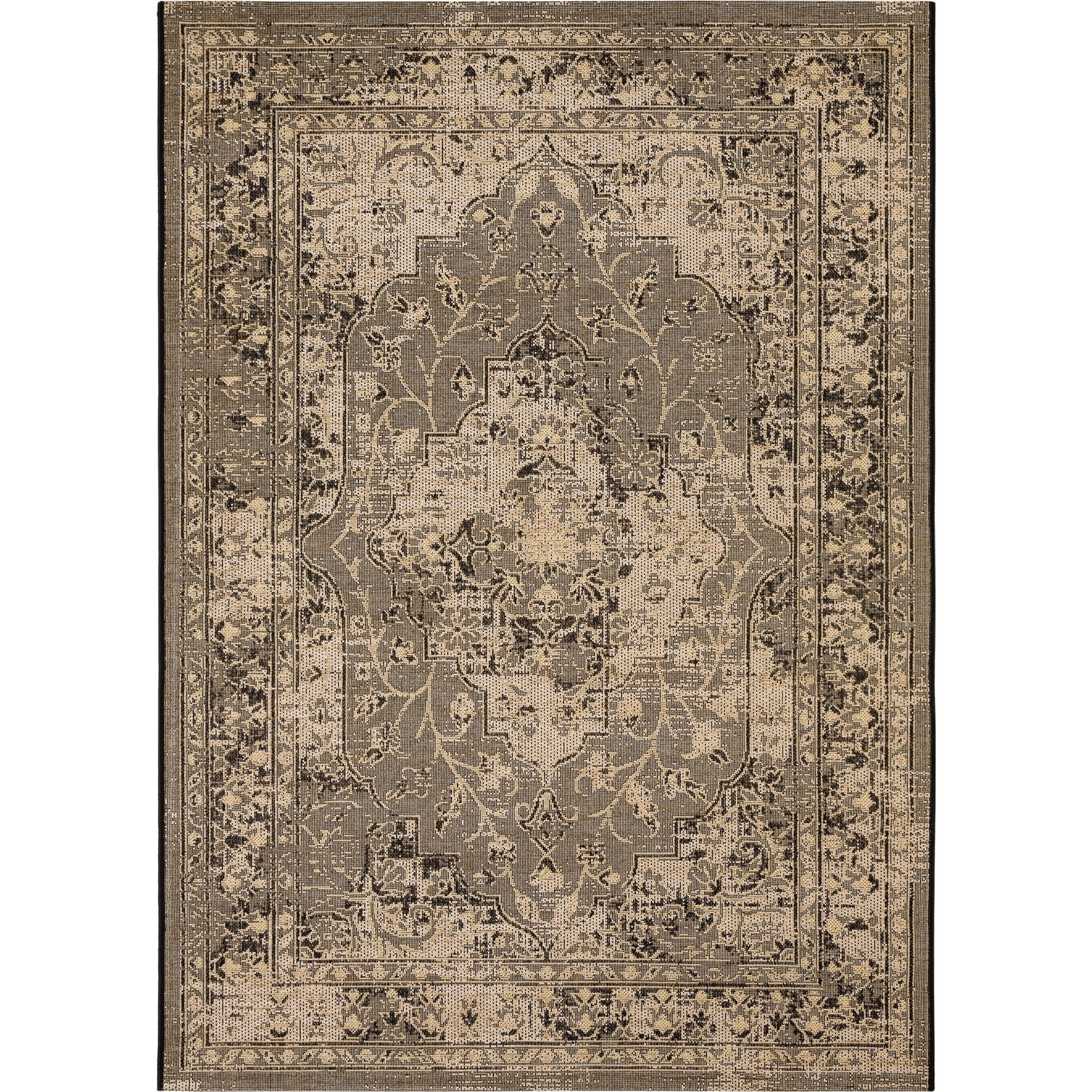 Safavieh Palazzo Collection PAL128-1621 Light Grey and Grey Area Rug (8' x 11') by Safavieh