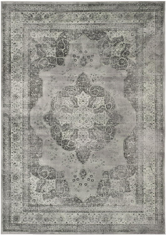 Grau   Mehrfarbig 160 x 230 cm Safavieh Vintage Inspirierter Teppich, VTG158, Gewebter Weiche Viskose-Faser, Grau   Mehrfarbig, 160 x 230 cm