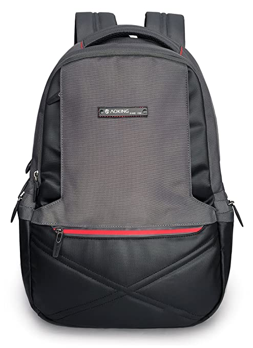 7a2e1f863f74 Aoking 15.6 Polyester Laptop Backpack School Bag College Bag Backpack  (Grey)  Amazon.in  Bags