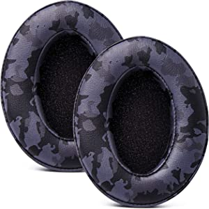 WC Wicked Cushions Upgraded Replacement Earpads for ATH M50X - Fits Audio Technica M40X / M50XBT / HyperX Cloud & Cloud 2 / SteelSeries Arctis 3/5 / 7 / 9X & Pro Wireless/Stealth 600 | Black Camo
