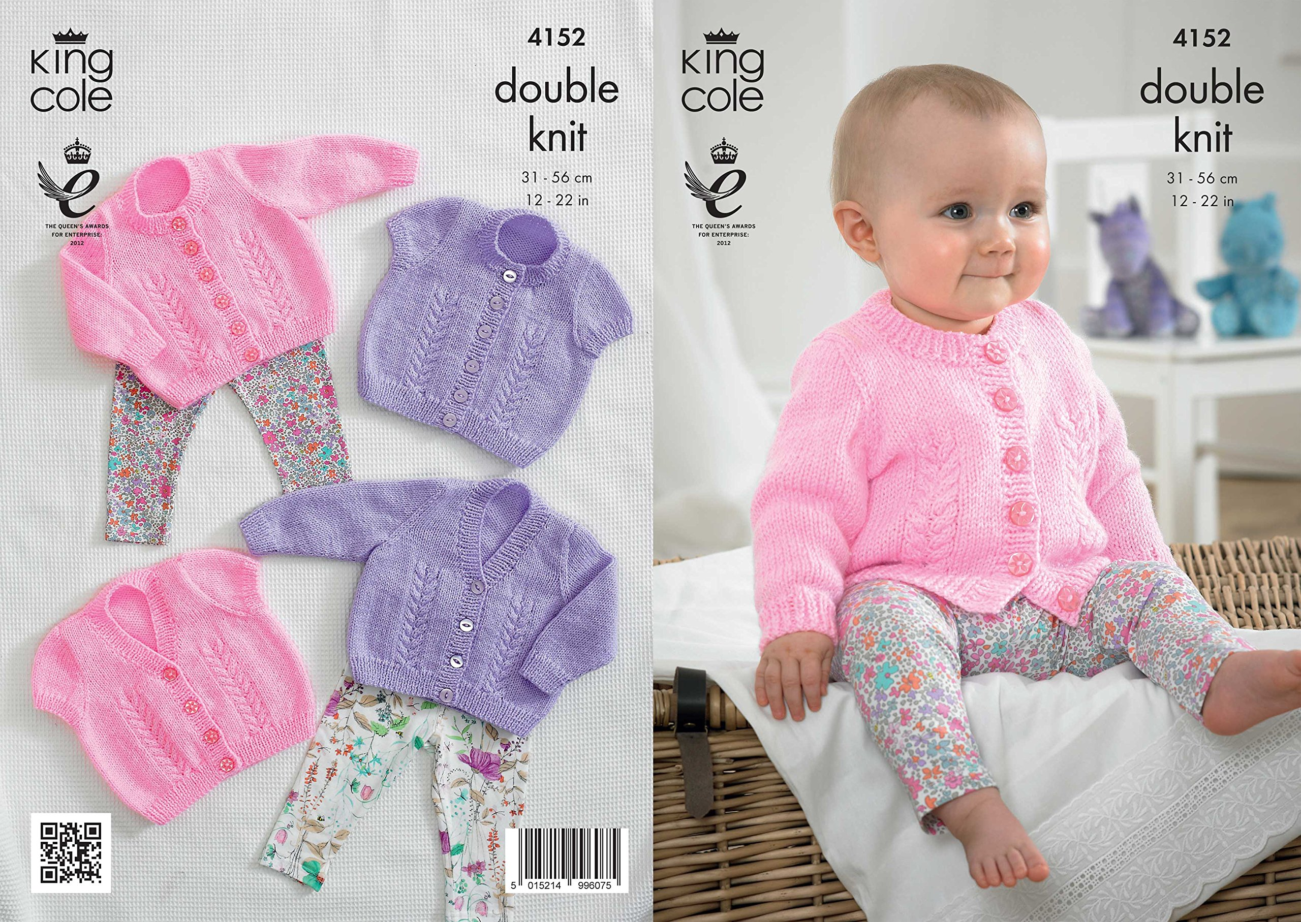 King Cole Baby Knitting Pattern 5334 In DK Cardigans And Sweater