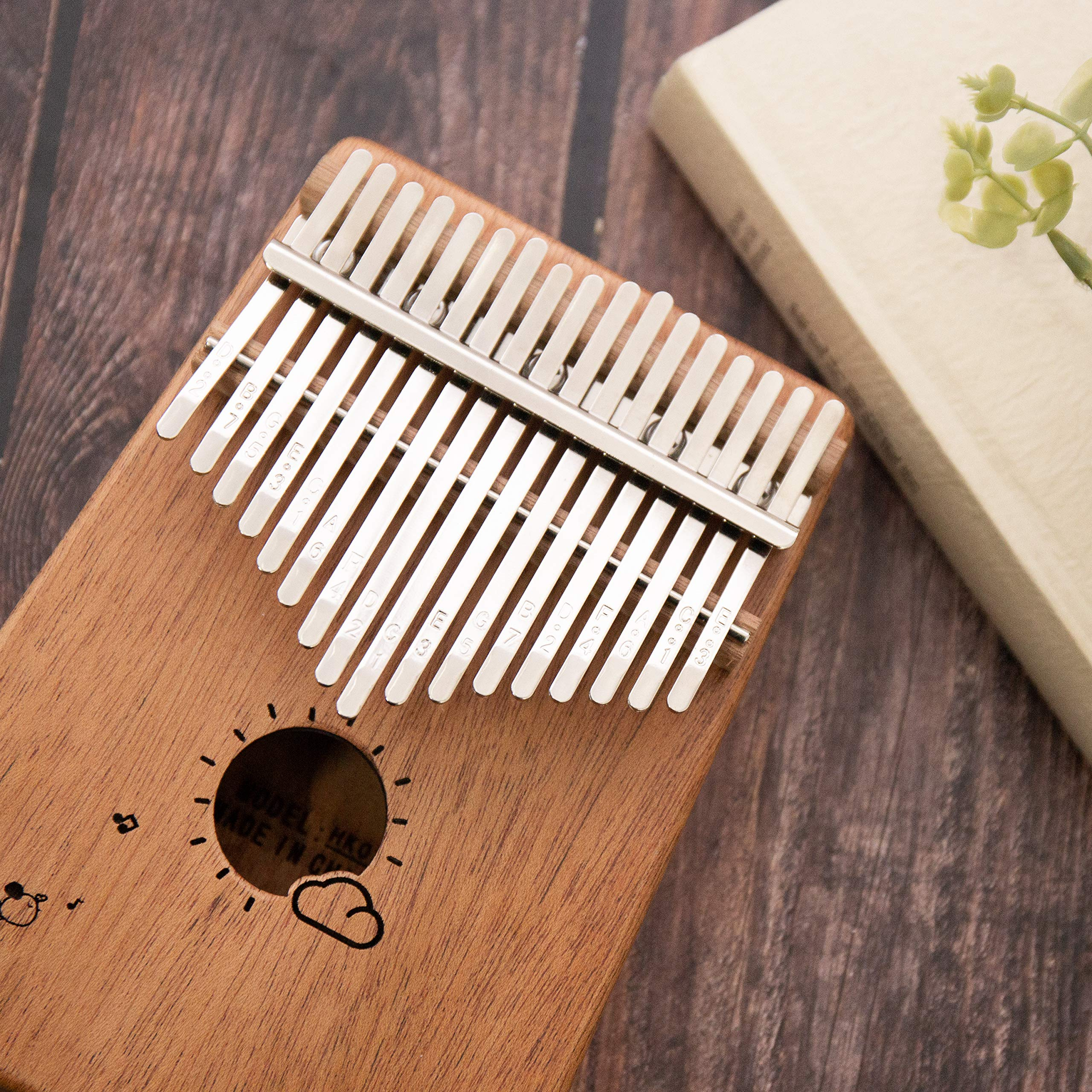 Kalimba 17 Keys Thumb Finger Piano - Mbira - Solid Mahogany and Portable with Carrying Bag and Instructions by GSM Brands (Image #2)