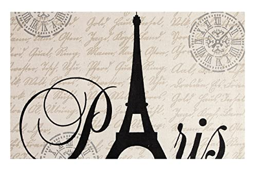 Chesapeake Paris Printed Cotton Eiffel Typography Accent Rug 3 x5