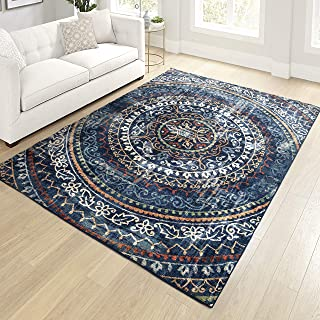 "product image for Orian Meadow Newton Area Rug, 7'10"" x 10'10"", Navy"