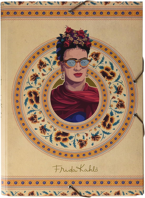Grupo Erik CSG0050 Cartella con elastici A4 Frida Kahlo