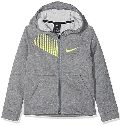 Nike 892508-091 Sudadera, Niños, Gris (Carbon Heather/Volt),