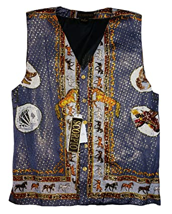 Scorpio Motorcycle Alarms Mens Silk Casual Metallic Vest ...