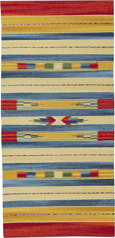 Jute & Co. Kilim - Alfombra tapete (algodón, Tejido a Mano, 60 x ...