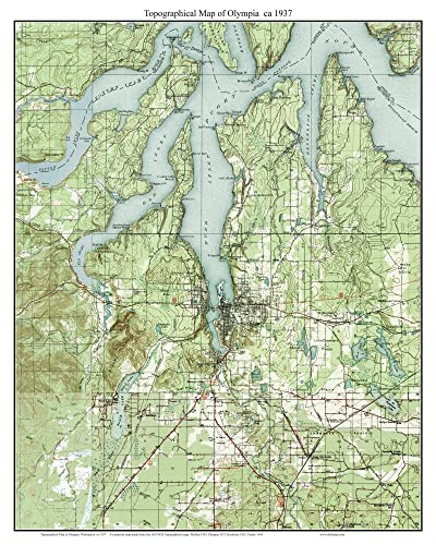 Amazon.com: Olympia - ca. 1937 - USGS Old Topographic Map Custom ...