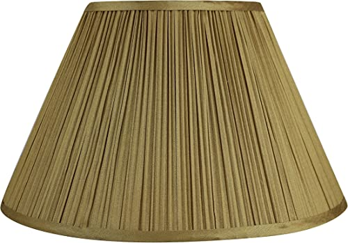 Urbanest Mushroom Pleated Softback Lampshade, Faux Silk, 8-inch by 16-inch by 10-inch, Spider-Fitter