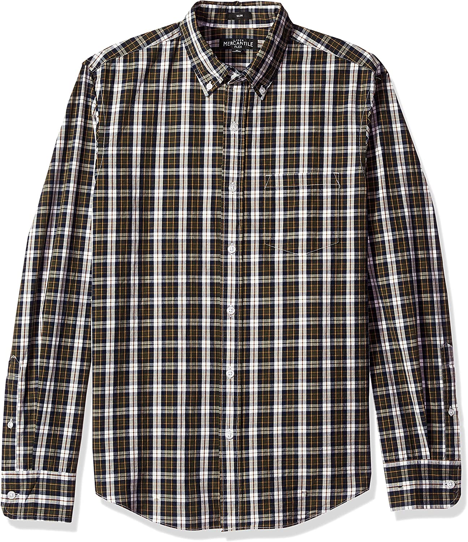 J.Crew Mercantile Mens Slim-fit Long-Sleeve Plaid Shirt
