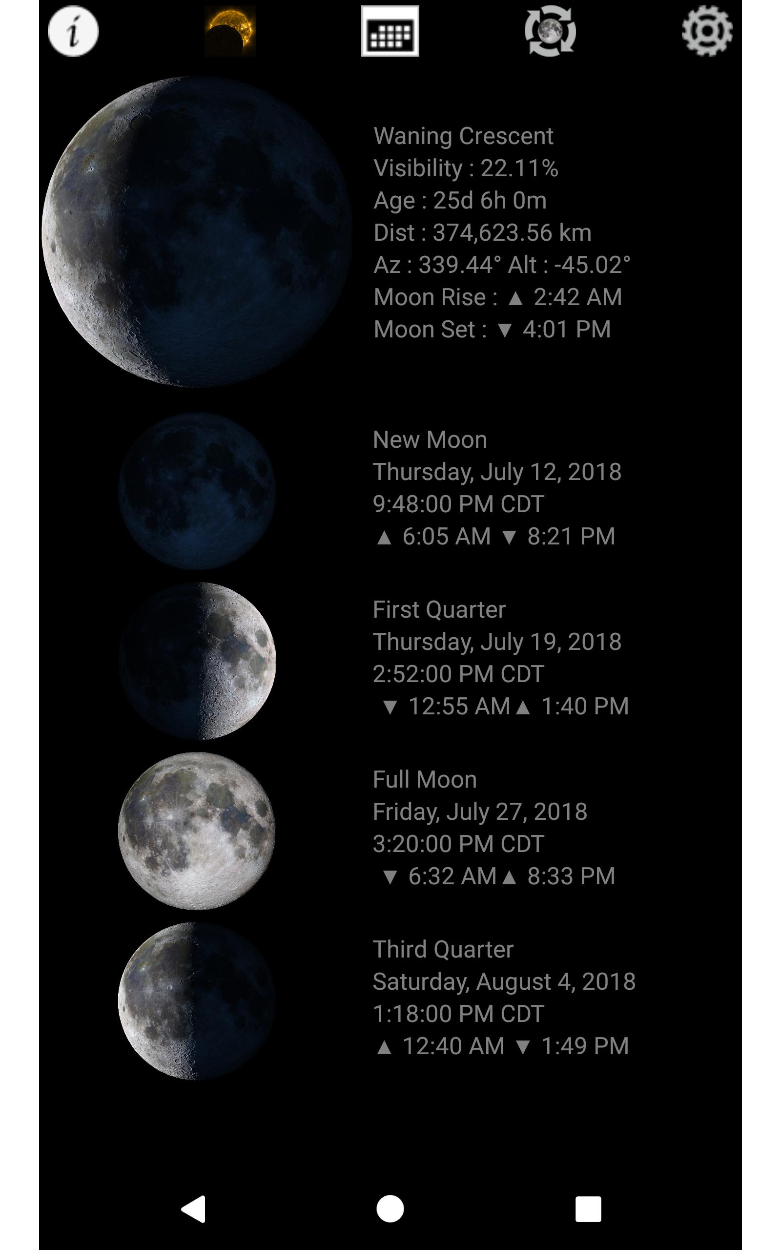 Lunar Phase - Moon Phases Calendar   Widget  Amazon.com.au  Appstore ... ba96fd2d03057