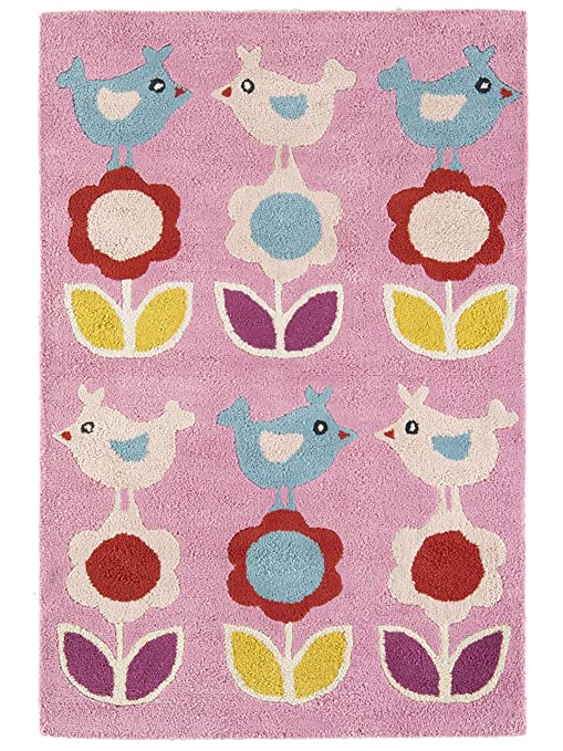 benuta Teppiche: Kinderzimmer Kinderteppich Kids Birds Rosa ...