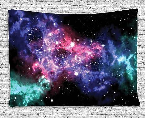 Ambesonne spazio collezione decorazioni stelle e dusty gas cloud