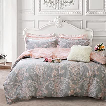 Amazon Com Brandream Blush Pink Bedding Sets Full Size Girls Damask