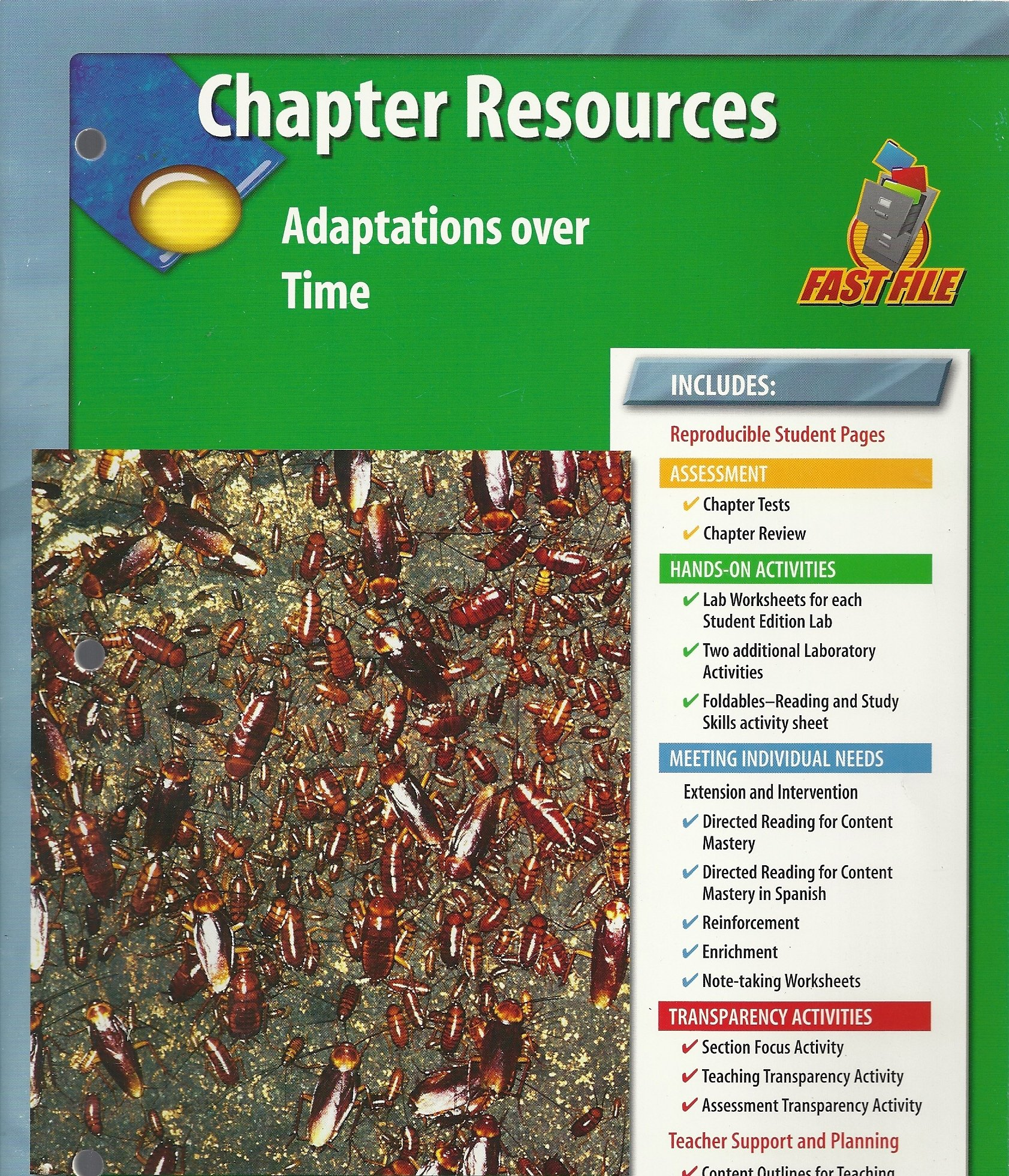 Read Online Glencoe: Science - Chapter Resources - Fast File - Adaptations Over Time ebook