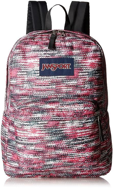 06a2d4743467 JanSport Superbreak Polyester 25 Ltrs Multi Sweater Knit School Backpack  (JS00T5010JV)  Amazon.in  Bags