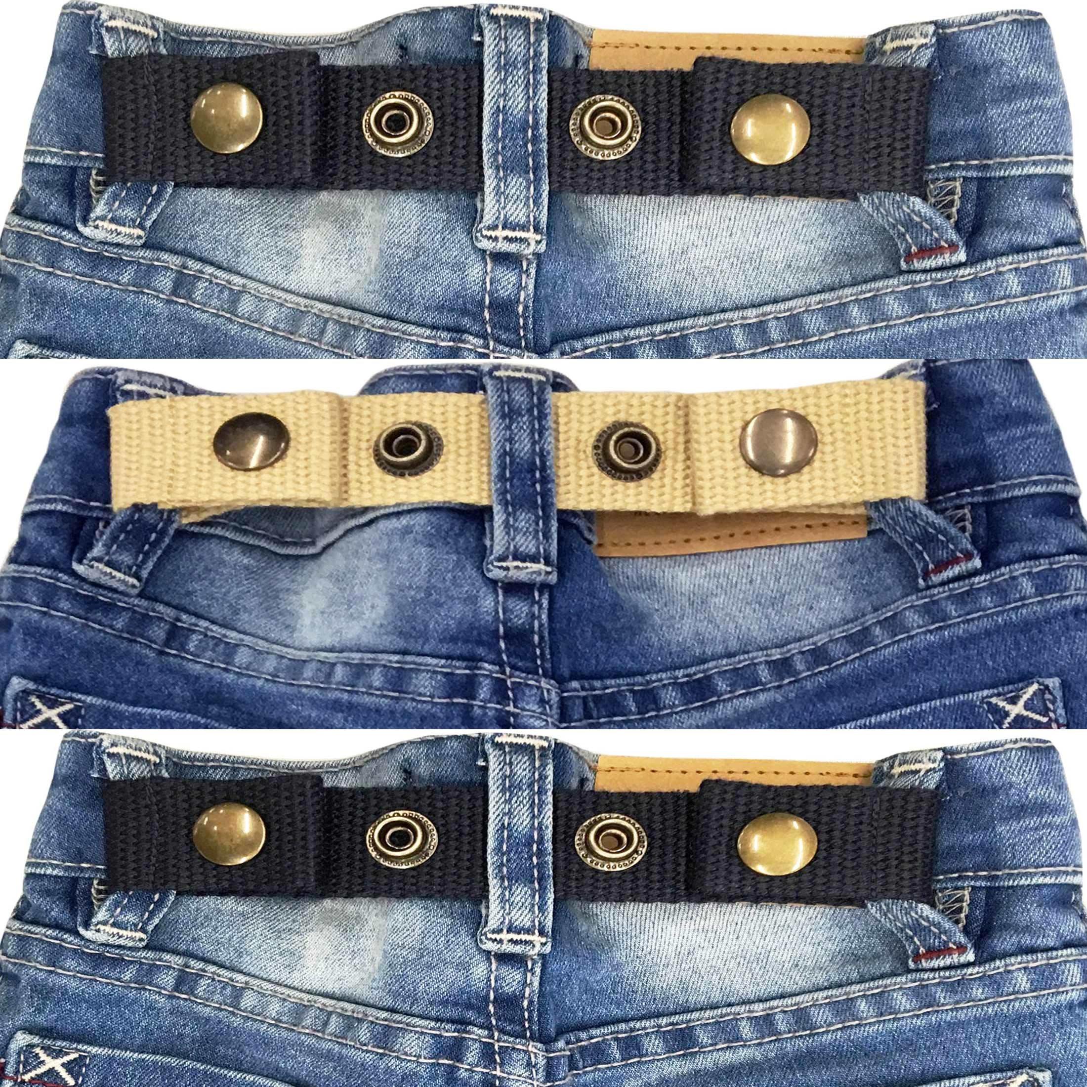 Sister Selected Adjustable Snap Belt for Baby/Toddler Boy & Girl Pant - 3 Pack: (No. 4)