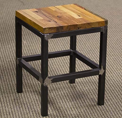 Industrial End Table Made With Salvaged Boeing Shipping Crates