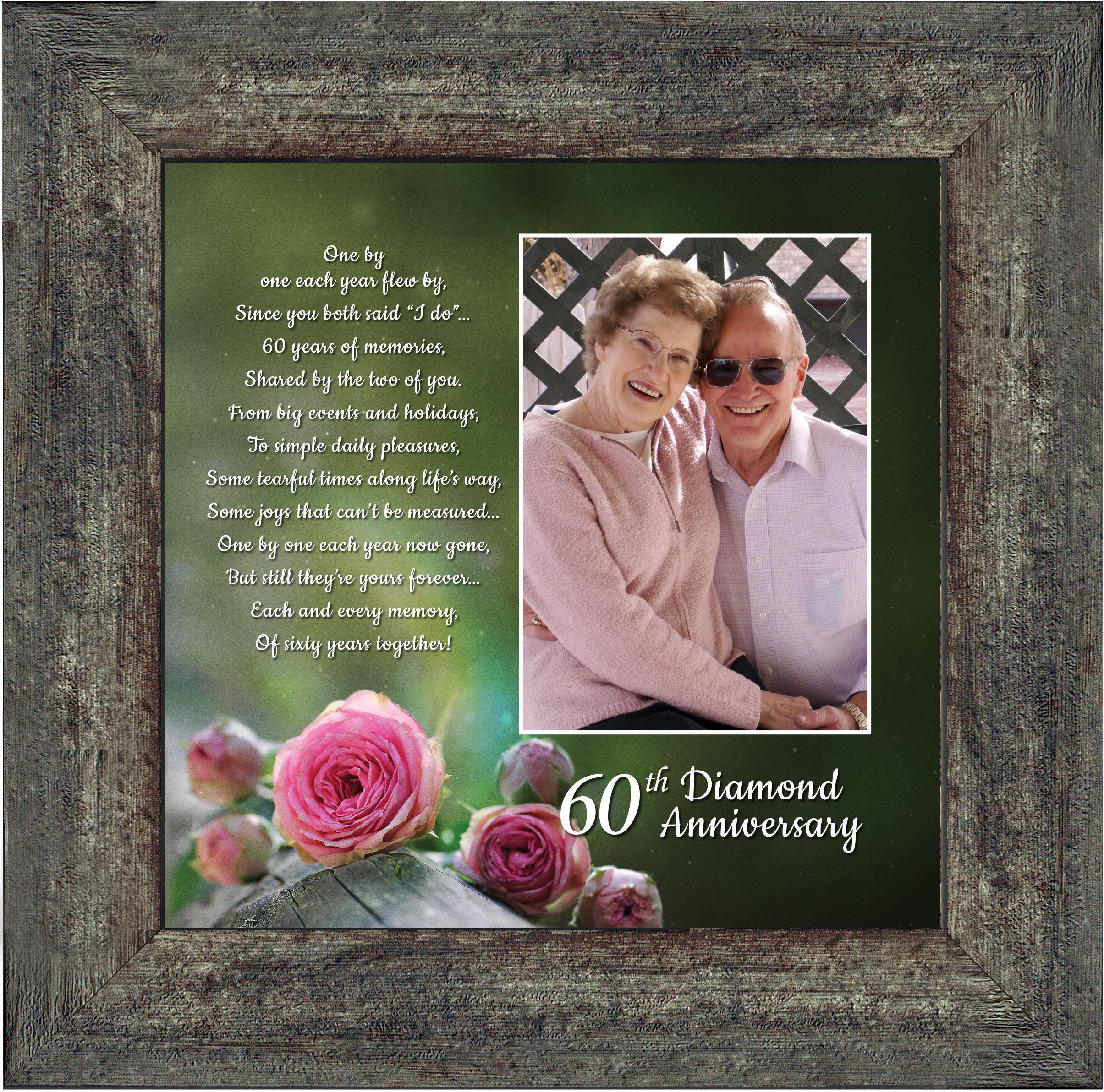 Personally Yours Diamond, 60th Anniversary Picture Frame, Diamond, 10x10 6310BW