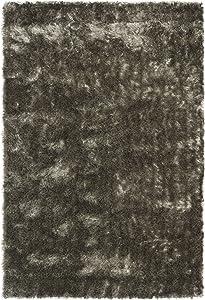 Safavieh Paris Shag Collection SG511-7575 Silver Polyester Area Rug (4' x 6')