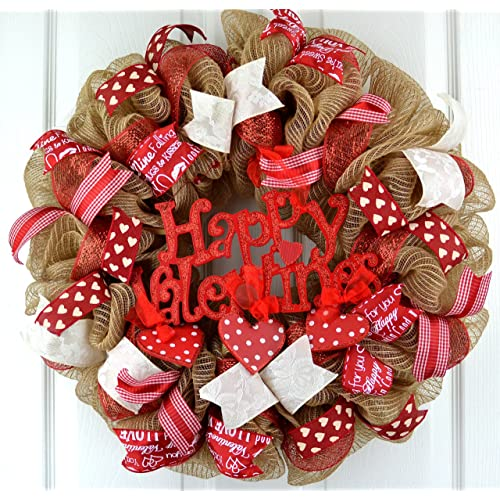 Valentine S Day Wreaths For Door Amazon Com