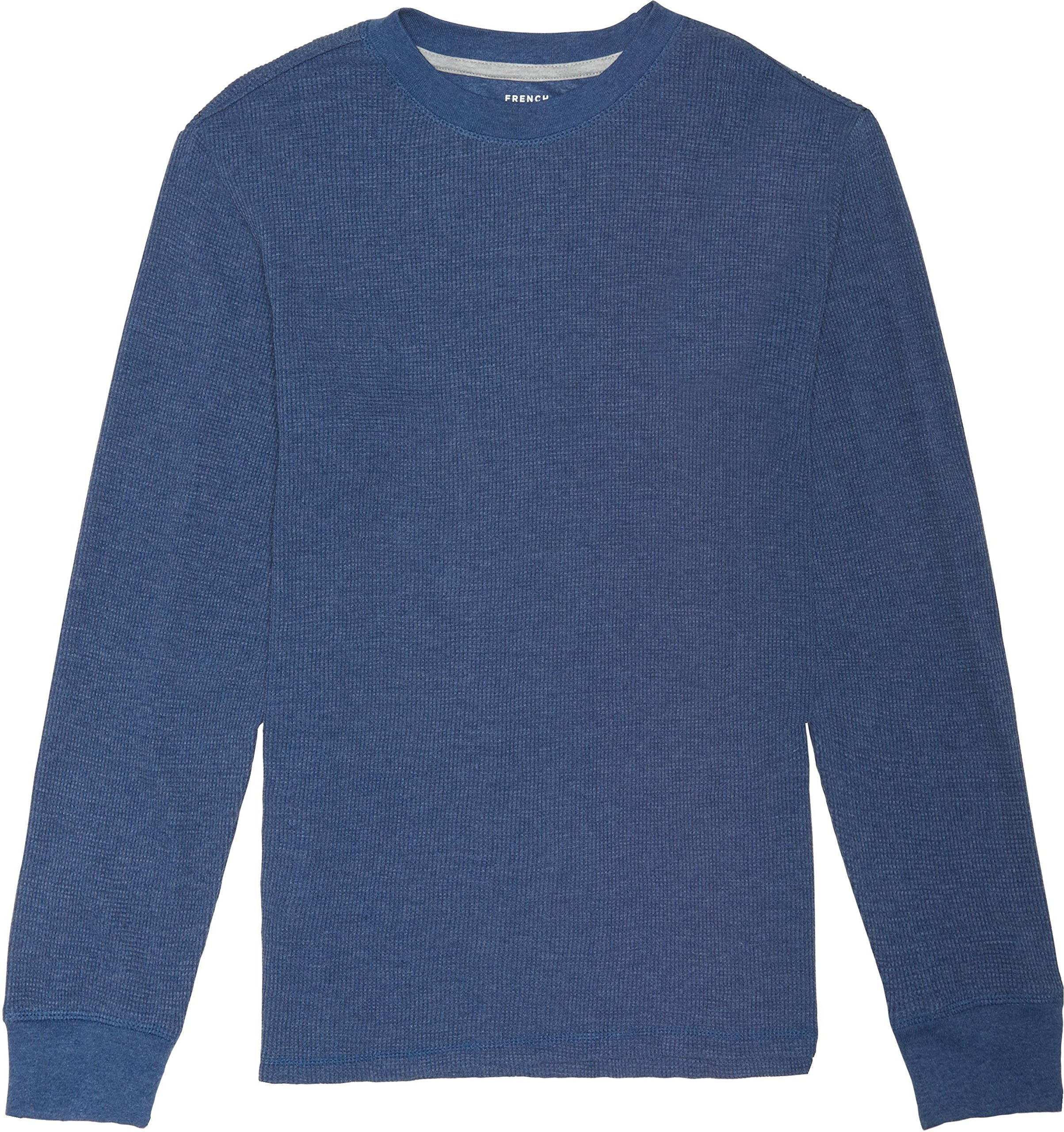 French Toast School Uniform Boys Long Sleeve Thermal T-Shirt, Medium Indigo Heather, Large (10/12)
