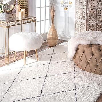 handmade soft and plush moroccan trellis shag rug 8u0027 x