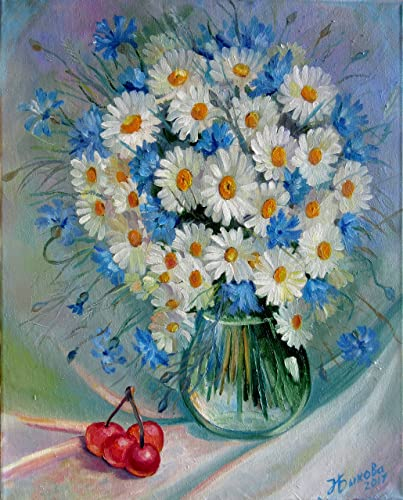 Amazon Bouquet Of Chamomile 20x16 Hand Painted By Nadia