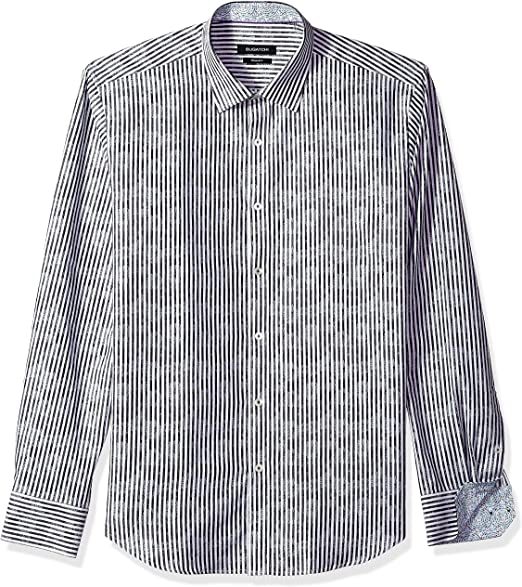 Bugatchi Mens Long Sleeve Shaped Woven Shirt