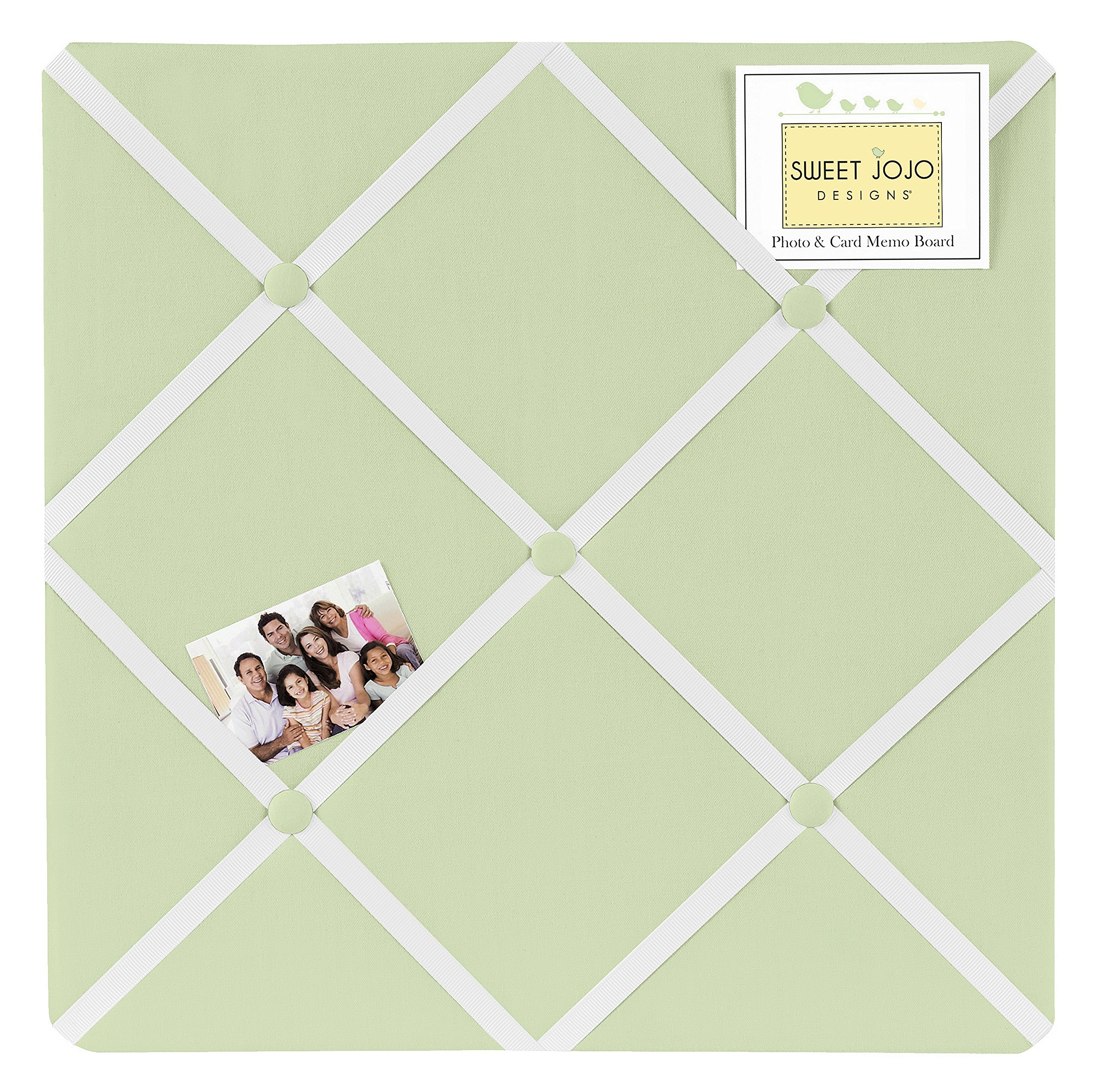 Sweet Jojo Designs Light Green Fabric Memory/Memo Photo Bulletin Board