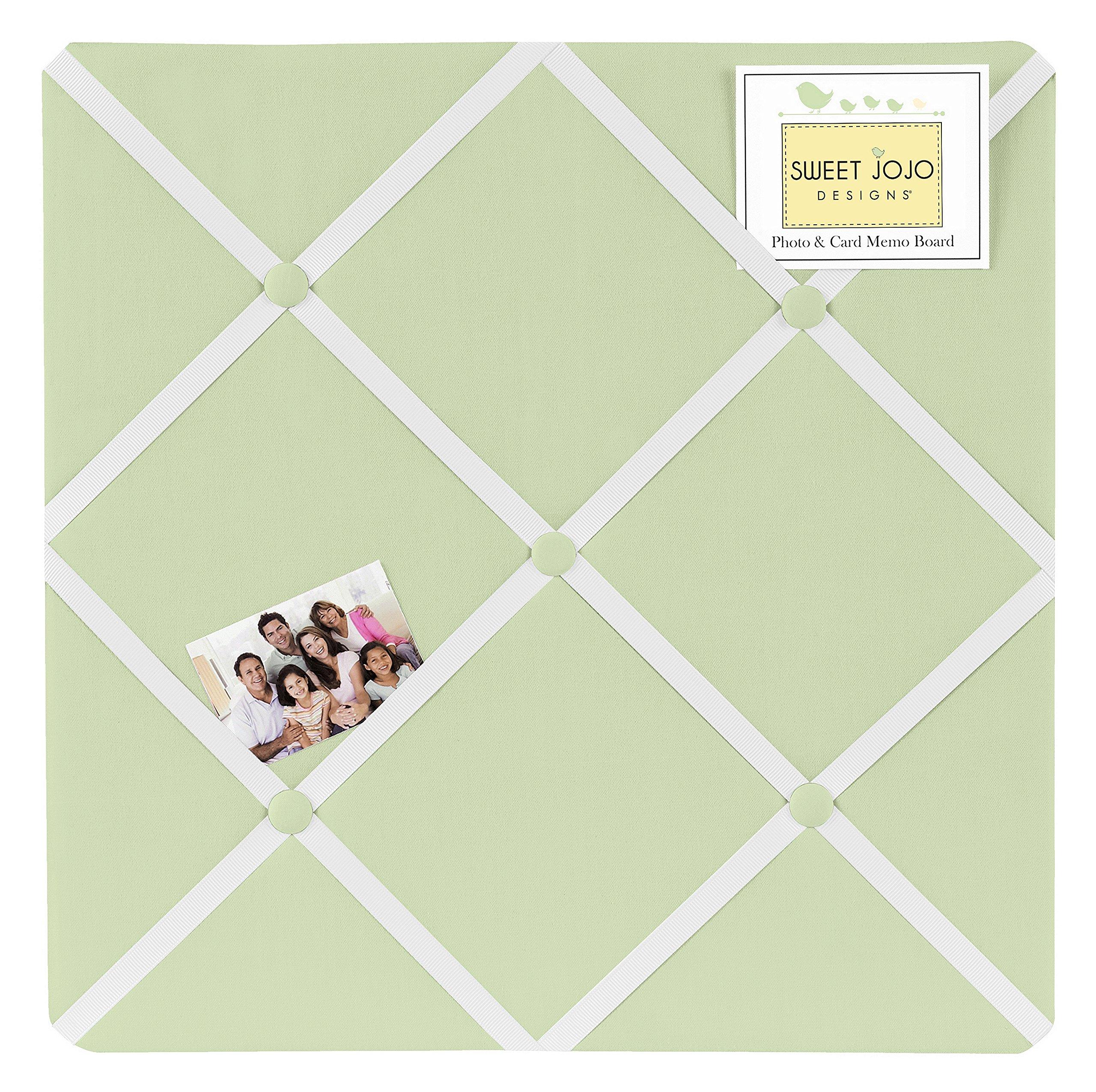 Sweet Jojo Designs Light Green Fabric Memory/Memo Photo Bulletin Board by Sweet Jojo Designs