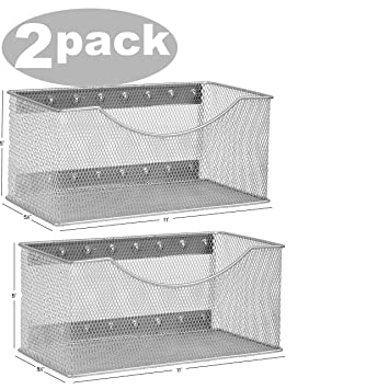 Ybmhome Wire Mesh Magnetic Storage Basket, Trash Caddy, Container, Desk  Tray, Office