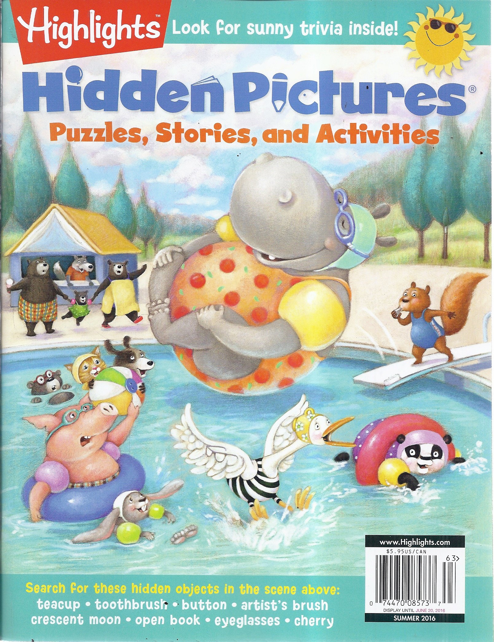 Highlights Hidden Pictures Summer 2016 Cover Illustrated By Susan