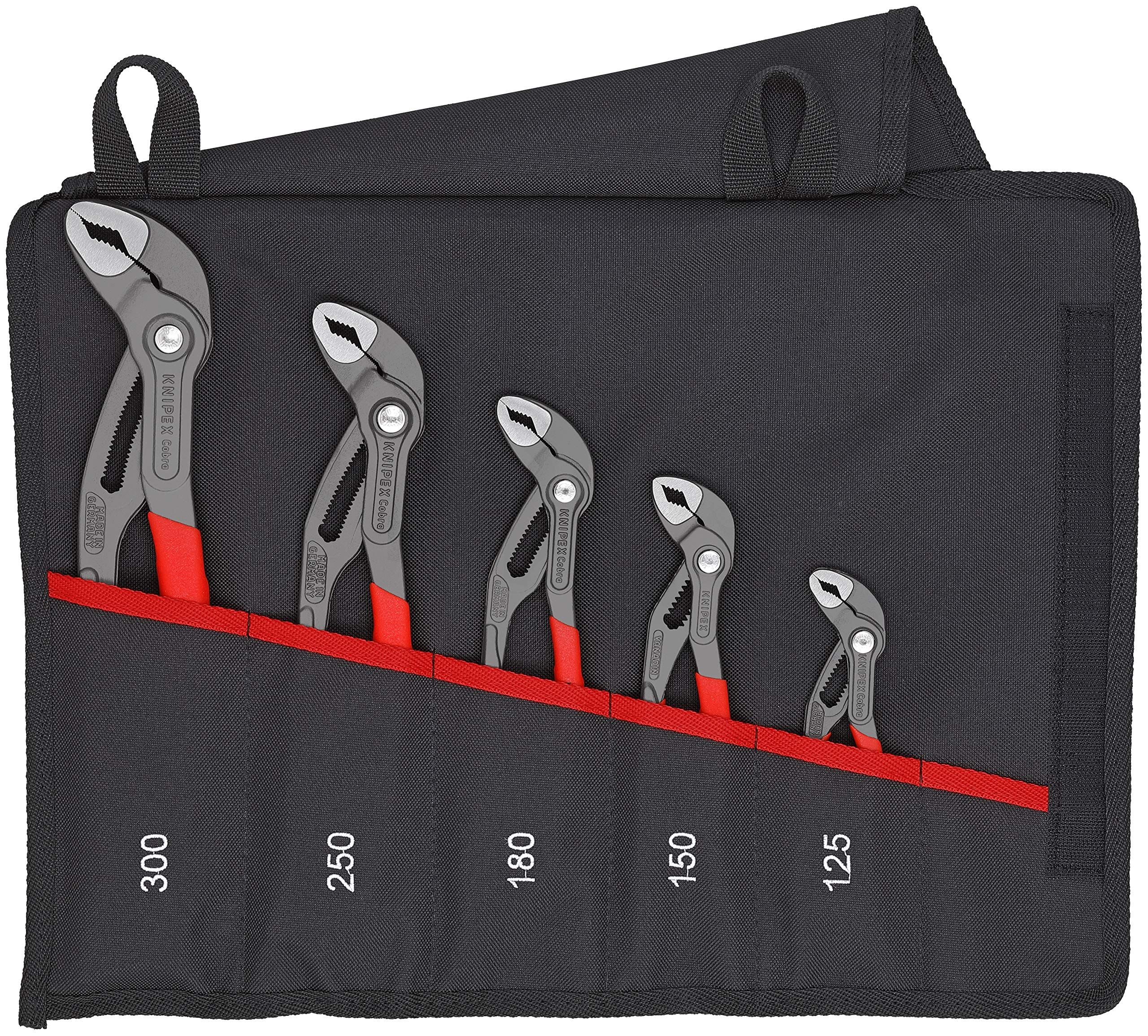Knipex Tools 00 19 55 S5, Cobra Pliers, 5Piece Set with Tool Pouch by KNIPEX Tools