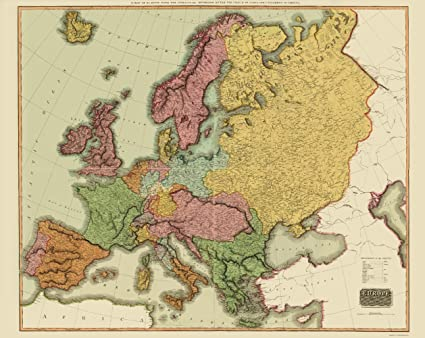 Amazon.com: Old Europe Map - Europe after Congress of Vienna ...