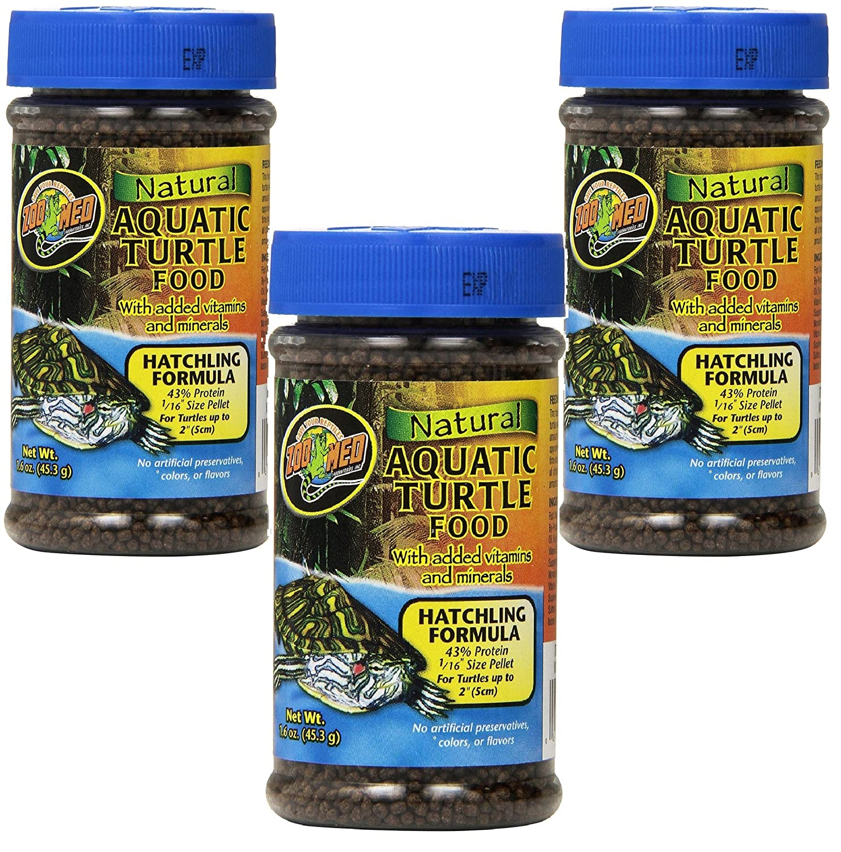 (3 Pack) Natural Aquatic Turtle Food Hatchling Formula