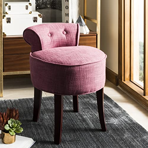 Safavieh Home Collection Georgia Rose and Cherry Mahogany Petite Vanity Stool