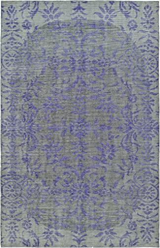 Kaleen Rugs Relic Collection RLC08-95 Purple Hand-Knotted 4' x 6' Rug