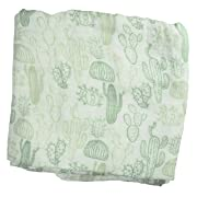 Cactus Muslin Swaddle Blanket - Made from Bamboo