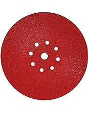 S&R 10 Discos de Lija en Papel Abrasivo con Velcro Ø 225 mm / Grano 80