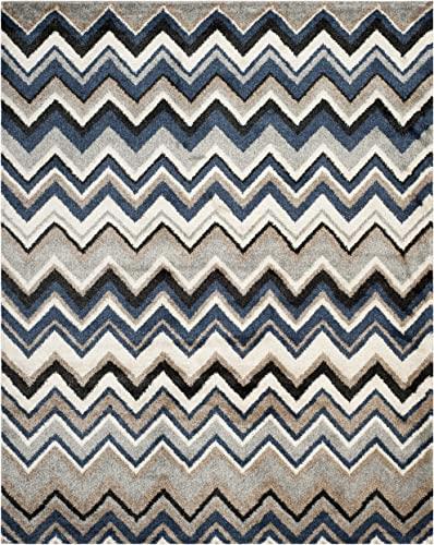 Safavieh Tahoe Collection TAH477D Grey and Light Blue Area Rug 8 x 10