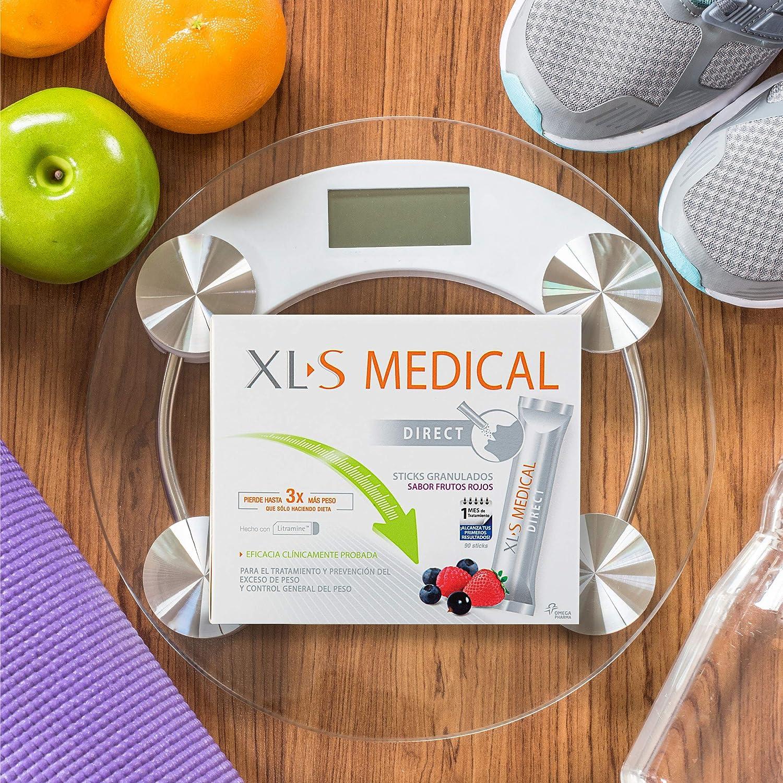 XL-S Medical Captagrasas Direct - Sticks Captagrasas - Tratamiento para Perder Peso con Sabor a Frutos Rojos - Capta 28% de la Grasa Ingerida1 - 90 ...