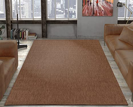 outdoor jute rug. Ottomanson Jardin Collection Natural Solid Design Indoor/Outdoor Jute Backing Area Synthetic Sisal Rug, Outdoor Rug