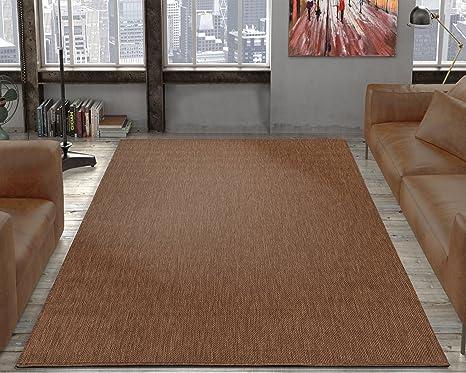 Amazon.com: Ottomanson Jardin Collection Natural Solid Design Indoor ...