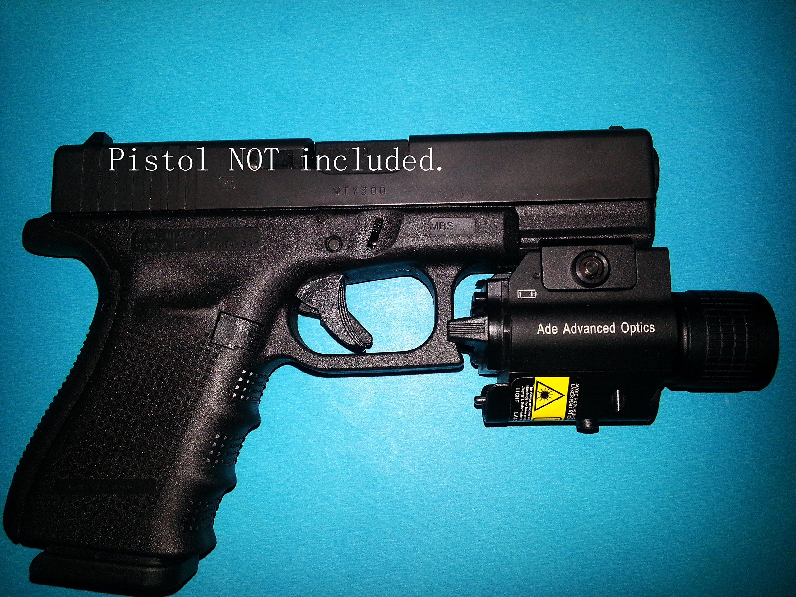 Ade Advanced Optics LS003G Non-Handheld Class 3R Green Laser Flashlight Sight for Pistol Handgun by Ade Advanced Optics