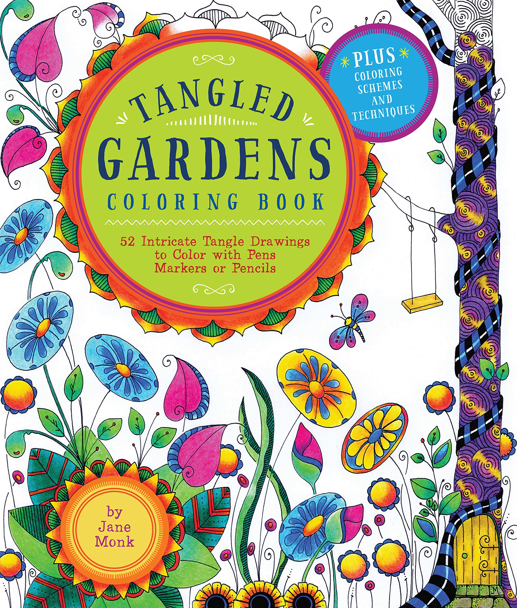 Amazon.com: Tangled Gardens Coloring Book: 52 Intricate Tangle ...