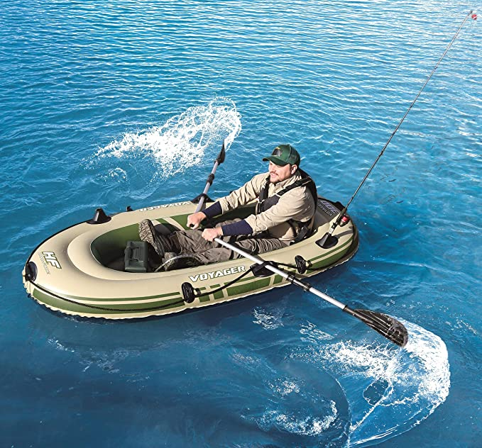 Barca Hinchable Bestway Voyager 300 Para 2 persona 2 remos: Amazon.es: Juguetes y juegos