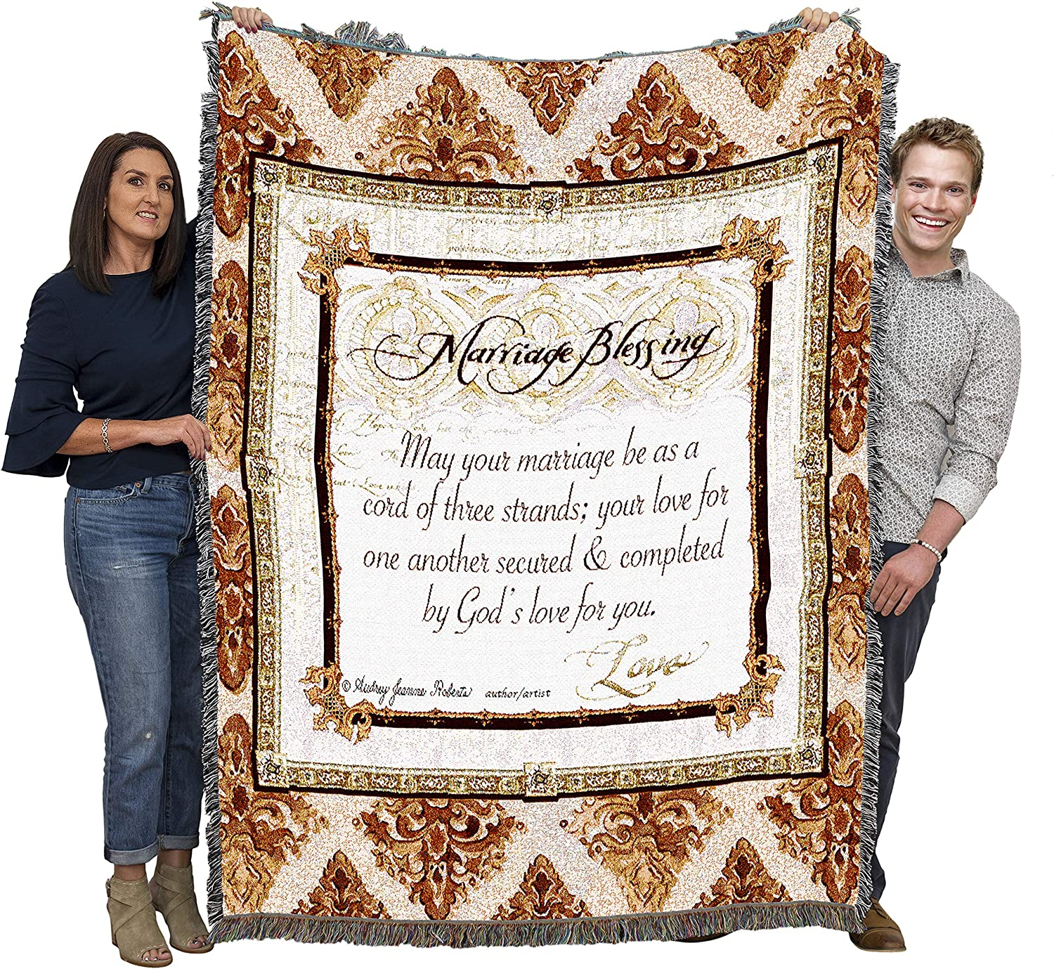 B001GDOS1C Pure Country Weavers Marriage Blessing Blanket A120rEYHGKL